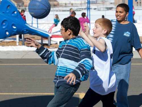Kids on playground on LiveWell Colorado website
