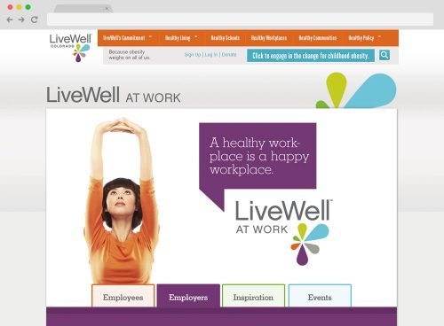 WordPress microsite development for LiveWell Colorado