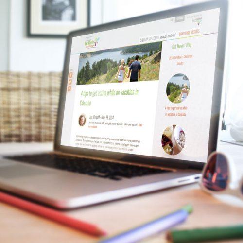 Custom Homepage design for LiveWell Colorado