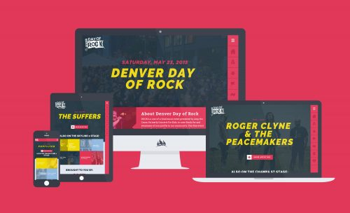 Fireant built the Denver Day of Rock website on a responsive framework